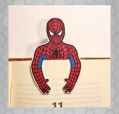 Illustrated Spiderman Bookmark by designcorner on Etsy Bookmark Craft, Bookmarks Kids, Fun Crafts, Crafts For Kids, Arts And Crafts, Watercolor Bookmarks, Card Drawing, Die Cut, Spiderman Art
