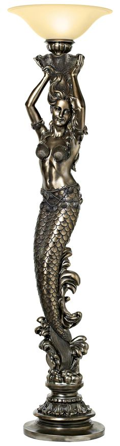 Mermaid Torchiere Floor Lamp -