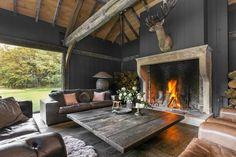 Giant fireplace in an incredible livingroom. #photography #architecture #realestate #huistekoop #makelaar #interior #livingroom #houses #interieur #fireplace #interior #styling