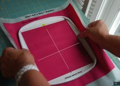 Great Blog on Hooping for machine embroidery!