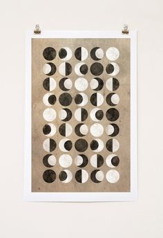 Moon Phase Art Print  Phases of The Moon by cegphotographics, $36.00