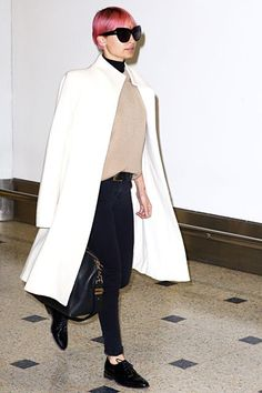 Nicole Richie Pulls A Fashion-Week Move At The Airport #refinery29  http://www.refinery29.com/2015/03/84070/nicole-richie-white-coat-outfit