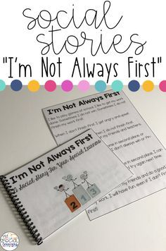 This social story is a great way to teach your students that it is OK to not always be first.