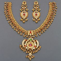 Jewellery Designs: Mangatrai's Latest Tussi Necklaces