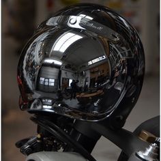 'Biltwell Chrome Mirror - Bubble Shield'