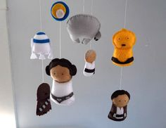 Star Wars Mobile - Baby Crib Mobile - Nursery Bedding. $95.00, via Etsy.