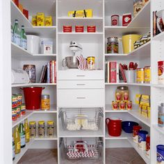 Mudroom Closet Ideas. I like the open storage, plus the drawers and the clean white