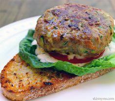 Grilled Turkey Veggie Burgers--the bet backyard barbecue burger around!  #grilled #turkeyburger #recipe