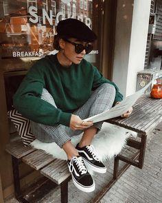 Check trousers | vans old skool | baker boy