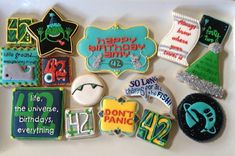 Hitchhiker's Guide Cookies. I need these when I turn 42 ( in many years :p )