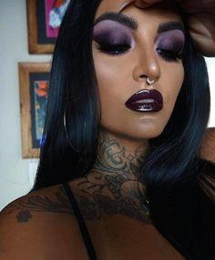 Goth Makeup, Sexy Makeup, Girls Makeup, Gorgeous Makeup, Makeup Inspo, Makeup Art, Makeup Inspiration, Hair Makeup, Drag Makeup