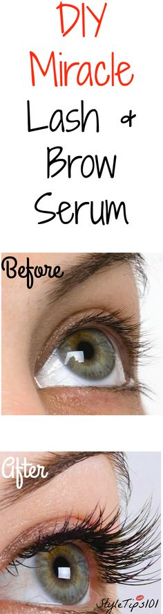We'll show you how to get thicker eyebrows and lashes naturally. Only three ingredients! Apply every night before bed for 2 weeks and you'll notice a HUGE difference!
