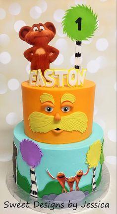 Lorax 1st birthday cake