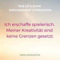Rise Up & Shine Empowerment Affirmationen