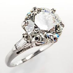 Vintage 2 Carat Diamond Engagement Ring. I'm leaning towards the ring no party.
