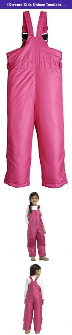 iXtreme Kids Unisex Insulated Ski Bib Snowpant Snowboard Snowsuit (6x/7, Berry). iXtreme Warm winter Toddler and Little Kids snow pants/ snowbib: As wearable as they are warm, these pants come with reinforced knees, zipper ankles and fold over pockets. Adjustable, clip-in straps and fasteners around the waist help them to get a powder-smooth fit. 100% polyester Machine wash; tumble dry Imported LITTLE KIDS AND TODDLER SKI PANTS/ WINTER OUTERWEAR/ SNOWBIB/ BIB SNOW PANTS/ SNOWSUIT/ BIB…