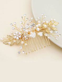 Faux Pearl & Rhinegraved Engraved Hair Comb | SHEIN South Africa Hair Comb, Free Gifts, Headbands, Hair Accessories, Brooch, Pearls, South Africa, Jewelry, Amp
