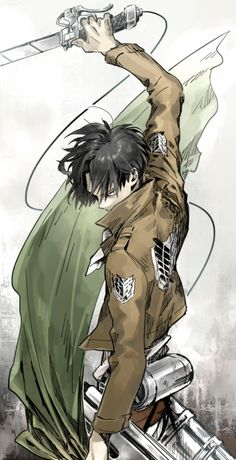 Attack on Titan, gotta love this anime... and Levi!