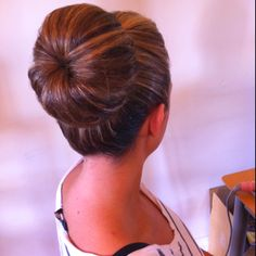 Top knot high bun donut bun