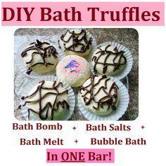 Maria Sself Chekmarev: How to Make DIY Bubble Salts Fizzy Melts (Truffles) = Bath Bombs + Bath Salts + Bath Melts + Bubble Bath in ONE Bar!