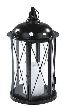 Lantaarn gekocht. We hebben licht in ons tuinhuisje!