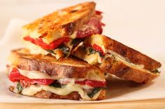 Roasted Red Pepper Provolone Sandwich. I would add roasted eggplant and aioli too...