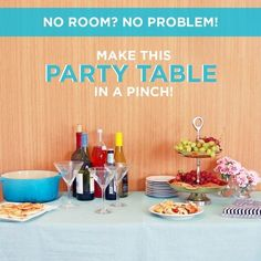 Out Of Space? This Emergency Table Hack Is Perfect For Parties