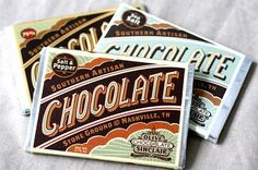 Chocolate bar wrappers from Anderson Design Group