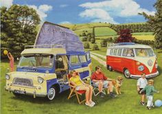 Campervan family outing