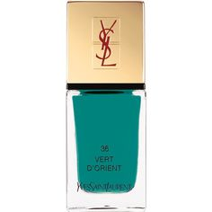 Yves Saint Laurent Beauty Women's La Laque Couture (90 PEN) ❤ liked on Polyvore featuring beauty products, nail care, nail polish, nail, turquoise, yves saint-laurent nail polish, shiny nail polish and yves saint laurent