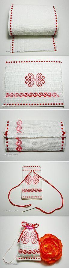 Вышитое саше - Вышивка - мастер-класс - Вышивка крестом - Статьи - вышивка и рукоделие - Вышивка крестом - Бесплатные схемы вышивки. Рукоделие.