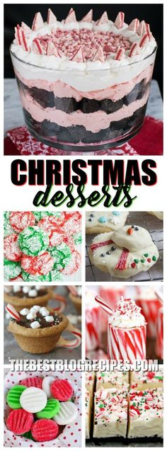 It's the most wonderful time of the year, so obviously you need the most wonderful Fun and Festive Christmas Desserts! The delicious flavors and festive appearance of these recipes, will make everyone feel like Christmas came early! via @bestblogrecipes