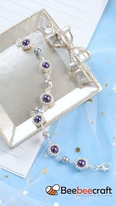 Beaded Bracelets Tutorial, Diy Bracelets Easy, Bracelet Crafts, Handmade Bracelets, Jewelry Crafts, Wire Jewelry Designs, Handmade Wire Jewelry, Jewelry Patterns, Jewelry Making Tutorials