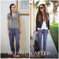 Merrick's Art // Style + Sewing for the Everyday Girl: PAJAMA TO TRACK PANTS REFASHION