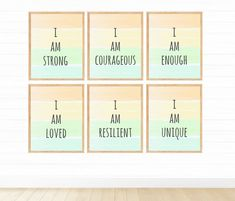 Kids Motivational Prints Digital Download Affirmation | Etsy Girls Room Wall Decor, Boy Wall Art, Printing Services, Online Printing, Flamingo Photo, Affirmations For Kids, Look Good For You, Motivational Posters, Classroom Decor