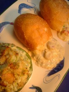 SEAFOOD STUFFED BELL PEPPERS / SEAFOOD STUFFED PISTOLETTES