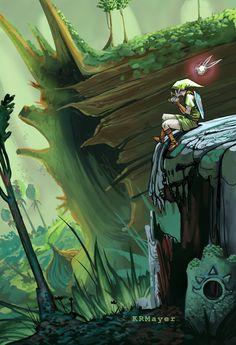 Lost Woods Zelda Print by starbottlebits