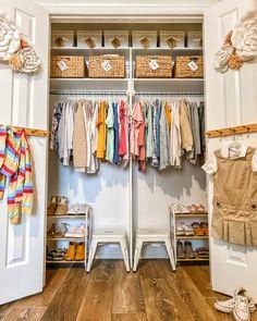 Little Girl Closet, Boys Closet, Shared Closet, Closet Bedroom, Closet Space, Messy Bedroom, Hallway Closet, Master Closet, Toddler Closet Organization