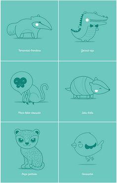 Bichinhos brasileiros | Flickr - Photo Sharing! #brazilian #animals #illustration