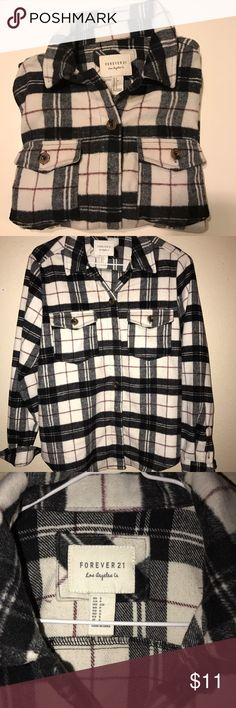 Super Cozy Forever 21 Flannel Woman's Forever 21 Flannel Forever 21 Tops Button Down Shirts