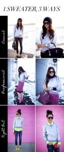Rachael Of Pink Peonies Styles 1 Sweater 3 Ways