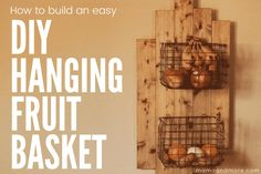 How to Paint Your Countertops Like Granite • Mama and More Hanging Fruit Baskets, Baskets On Wall, Painting Laminate Countertops, Fruit Holder, Dark Walnut Stain, Wall Anchors, Minwax, Diy Hanging, Diy Wall