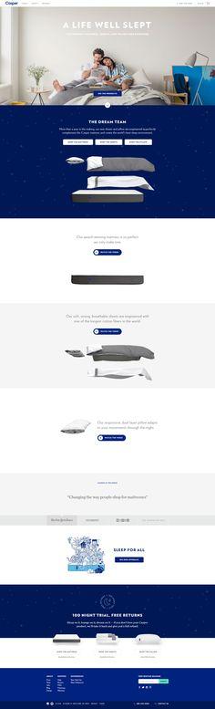 Casper mattress website - https://casper.com/