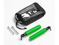 BootBars (Foot Pegs) for JK series Jeeps!   Powder-Coated, Gecko Green Dual Layer Rubber Grips, Includes Bolts, Nuts and a Black Carry Bag w/Handle.  Lifetime Warranty (Bag Excluded)
