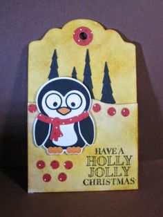 A Bit of This and That: A Penguin Holly Jolly Tag