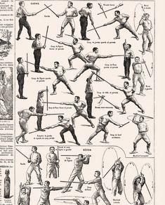 Items similar to Large stick fighting poster. Mens gift for dojo decor. Martial Arts Styles, Martial Arts Techniques, Martial Arts Workout, Martial Arts Training, Dojo, Survival Life, Survival Skills, Kendo, Kung Fu