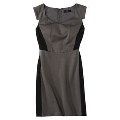 Mossimo® Women's Ponte Color Block Dress w/Cap Sleeves - Assorted Colors