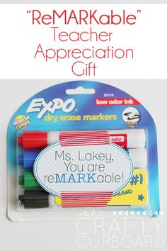 ReMARKable Teacher Gift with free Tag Printables