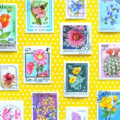 Flower stamps by hipaholic
