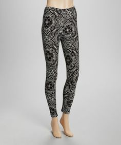 Black & White Cupola Leggings - Women